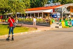 Einsames grossmeister, Großmeister in Park Moskaus Gorky Lizenzfreie Stockfotografie