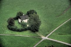 Einsames Haus Stockfotos