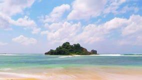 Einsames Inselzeitversehen stock video