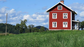 Einsames ländliches Haus Stockbilder