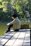 Einsames Mädchen Stockfoto
