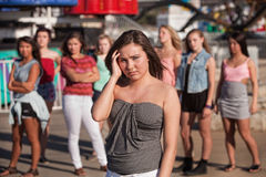 Einsames Mädchen ausgelassen Lizenzfreies Stockfoto