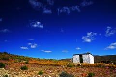 Einsames Tankwa Haus Lizenzfreie Stockfotografie