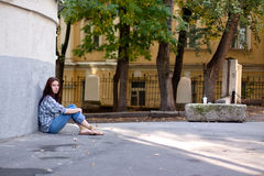 Einsamkeit in der großen Stadt Stockfotografie