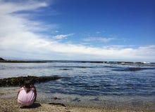 Einsamkeit an der Küste stockfoto