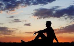 Einsamkeit in der Natur Stockbild