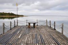 Einsamkeit durch das Meer Lizenzfreie Stockfotos