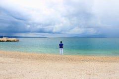 Einsamkeitsufergegend Stockfoto