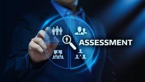 Einschätzungs-Analyse-Bewertungs-Maßnahme Geschäfts-Analytik-Technologiekonzept stockfoto