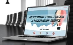 Einschätzungs-Mitte-Design und Förderungs-Servicekonzept 3d Stockfoto