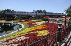 Einschienenbahn an der Disney-Welt Lizenzfreie Stockbilder