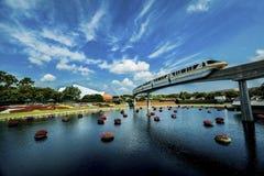 Einschienenbahn Disneys Orlando stockfotografie
