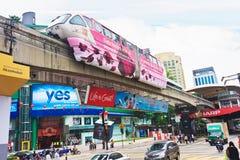Einschienenbahn Kuala Lumpur lizenzfreie stockfotos