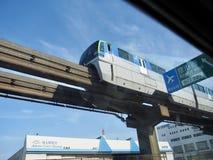 Einschienenbahn in Tokyo stockfotografie