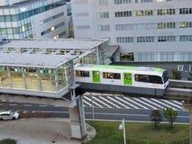 Einschienenbahn in Tokyo lizenzfreie stockbilder