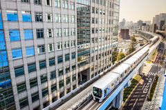 Einschienenbahn Tokyos Japan stockbild