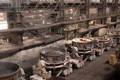 Einschmelzen des Metalls Stockbild