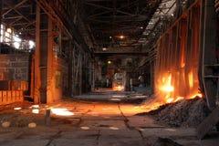 Einschmelzen des Metalls Stockfotografie