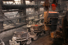 Einschmelzen des Metalls Lizenzfreies Stockbild