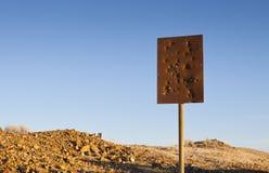 Einschussloch-Zeichen Lizenzfreie Stockbilder