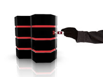 Einsickern eines Servers Lizenzfreie Stockbilder