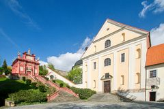 Einsiedel - Ostrov nad Ohri的圣母玛丽亚的教堂 免版税库存照片