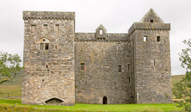 Einsiedlerei-Schloss, in den schottischen Grenzen Stockfotos