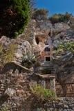 Einsiedlereihöhle des 15. Jahrhunderts Lizenzfreie Stockfotografie