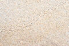 Einsiedlerkrebsabdrücke auf dem Sand stockfoto