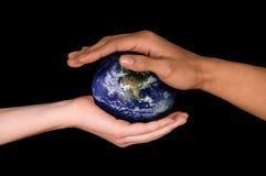 Einsparung-Erde lizenzfreie stockfotografie