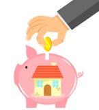 Einsparung für ein Haus Lizenzfreies Stockfoto