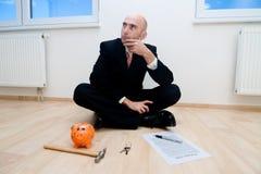 Einsparung für ein neues Haus Lizenzfreies Stockbild