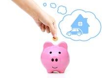 Einsparung-Geld für Zukunft Stockbilder