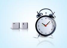 Einsparung-Zeit, control+s Taste mit Borduhr Lizenzfreies Stockfoto