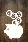 Einsparungen das Geld Stockbild