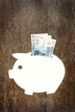 Einsparungen das Geld in den russischen Rubeln Stockfoto