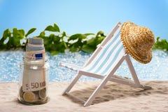 Einsparungen für Ferien Stockbild