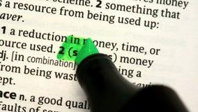 Einsparungen hervorgehoben stock video