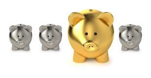 Einsparungen und Wertpapiergeschäft-Konzept Stockbild