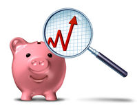 Einsparungen-Wachstum-Diagramm Lizenzfreies Stockfoto