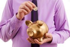 Einsparungensgeld Lizenzfreies Stockfoto