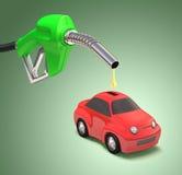 Einsparungs-Benzin stock abbildung