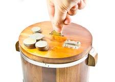 Einsparungs-Geld Stockbild