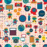 Einsparungs-Konzept-Ikonen-nahtloses Muster Lizenzfreies Stockfoto