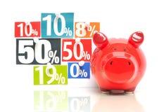 Einsparungsgeld Lizenzfreies Stockfoto