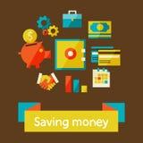 Einsparungsgeld Lizenzfreie Stockfotos