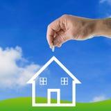 Einsparungsgeld für Haus Lizenzfreie Stockfotos