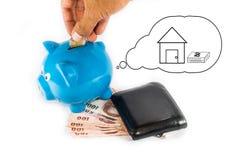 Einsparungsgeld während der besten Zukunft Lizenzfreies Stockfoto