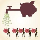 Einsparungsgeldkonzept lizenzfreie abbildung