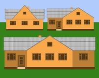 Einstöckige Häuser Lizenzfreie Stockfotografie